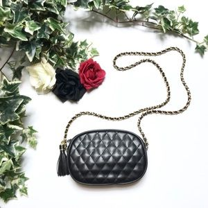 Black Quilted Fashion Small Crossbody Purse